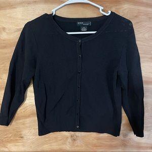 Grace Karin Knitwear Black Button Front Cardigan